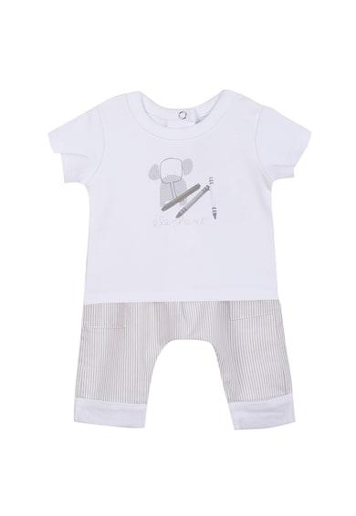 Absorba Set de tricou cu nasturi si pantaloni baggy - 2 piese Baieti