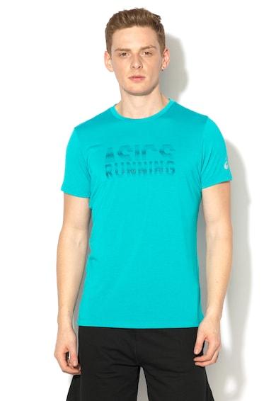 Asics Спортна тениска за бягане с текстова щампа Мъже
