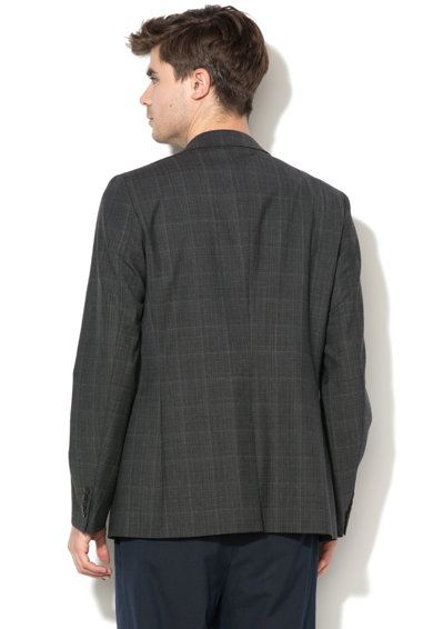 United Colors of Benetton Gyapjú tartalmú slim fit alkalmi zakó férfi