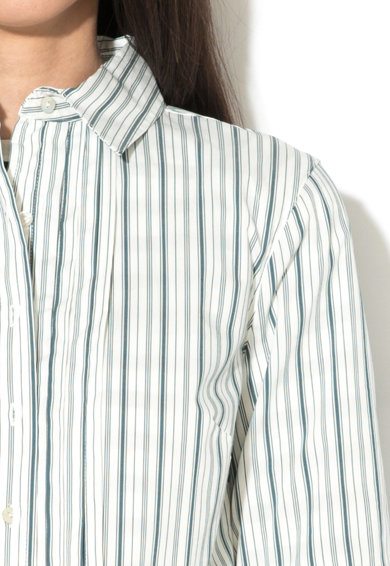 United Colors of Benetton Rochie tip camasa in dungi cu maneci medii Femei
