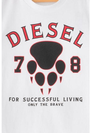 Diesel Tricou cu decolteu la baza gatului si imprimeu frontal Toli Baieti
