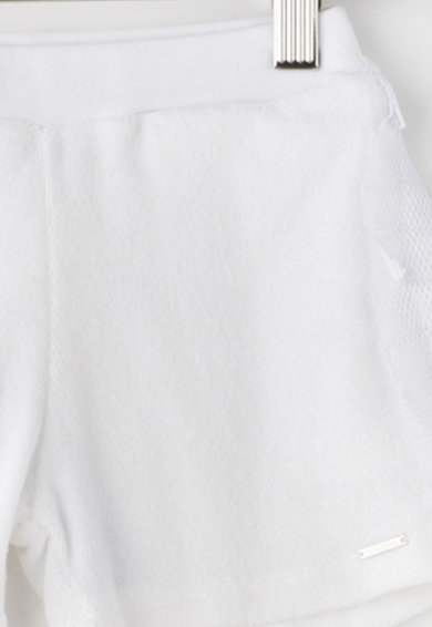 Diesel Pantaloni scurti din material terry cu aplicatii din plasa Perla Fete