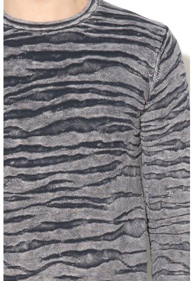 DESIGUAL Texturált pulóver férfi