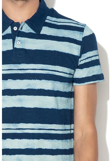 DESIGUAL Раирана тениска HECTOR с яка Мъже