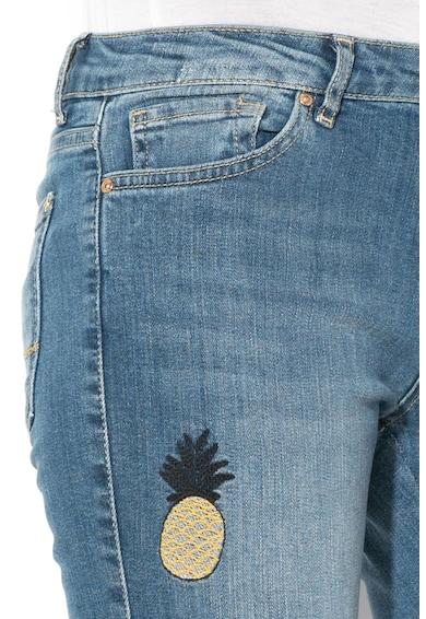 DESIGUAL Loane skinny farmernadrág hímzett részletekkel női