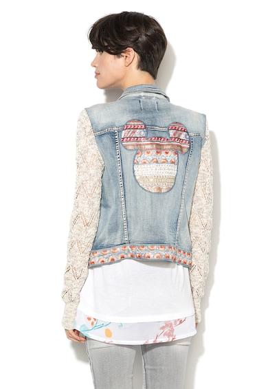 DESIGUAL Jacheta din denim cu maneci din tricot CARLA Femei