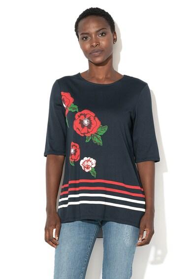 DESIGUAL Тениска Summertime с модал и контрастни детайли Жени