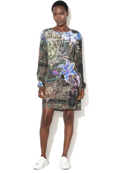 DESIGUAL Raul grafikai mintás rövid ruha női