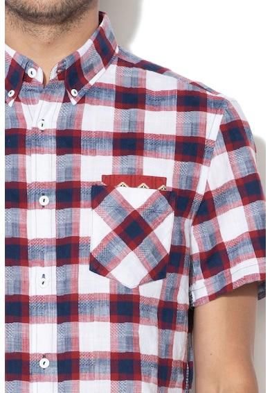 DESIGUAL Карирана риза Xander с джоб на гърдите Мъже