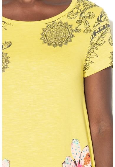 DESIGUAL Дълга тениска Cramer с асиметричен подгъв Жени