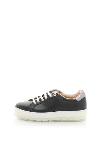 Diesel S-ANDYES flatform bőr sneakers cipő hüllőbőr mintás betétekkel női