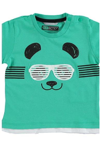 Sarabanda Tricou cu decolteu rotund si design cu urs panda Baieti