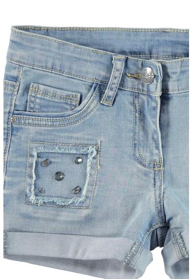 iDO Kids Pantaloni scurti din denim cu terminatii pliabile si strasuri Fete