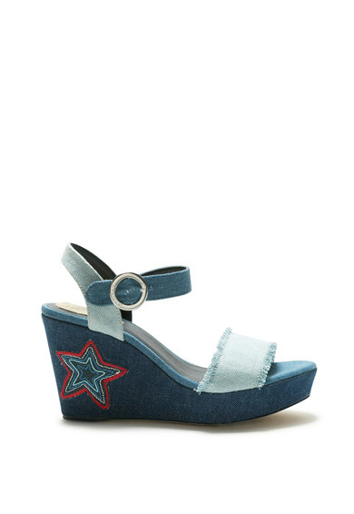 DESIGUAL Sandale wedge de denim Virgo Femei