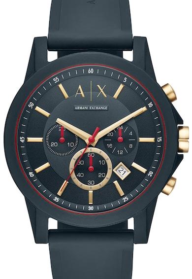 ARMANI EXCHANGE Часовник Outer Banks с хронограф и силиконова каишка Мъже