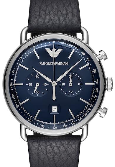 Emporio Armani Часовник Aviator с кожена каишка Мъже