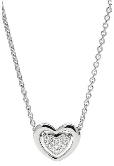 Fossil Colier din argint veritabil cu pandantiv in forma de inima Femei
