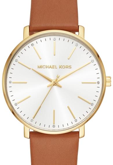 Michael Kors Аналогов часовник Pyper с кожена каишка Жени