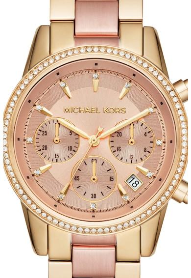 Michael Kors Ceas cronograf din otel inoxidabil Ritz 2-Tones Femei