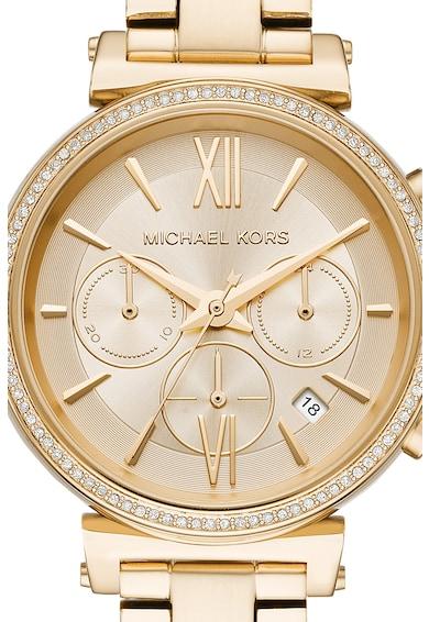 Michael Kors Sofie chrono karóra fémszíjjal női