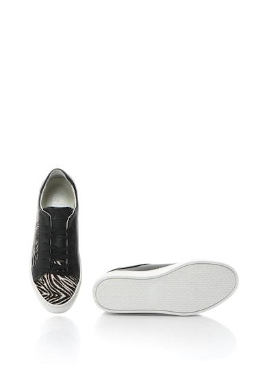 Bullboxer Pantofi sport din piele si piele cu par scurt Femei