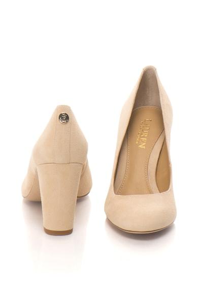 Lauren Ralph Lauren Pantofi din piele intoarsa cu toc inalt Maddie Femei