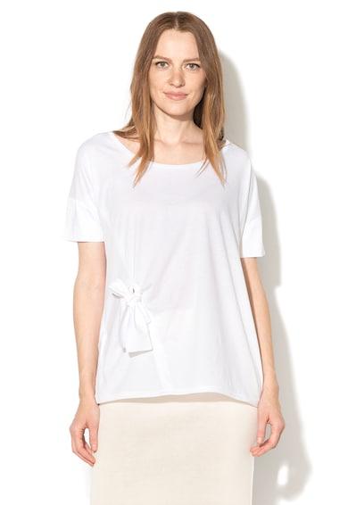 Stefanel Тениска с овално деколте и панделка Жени