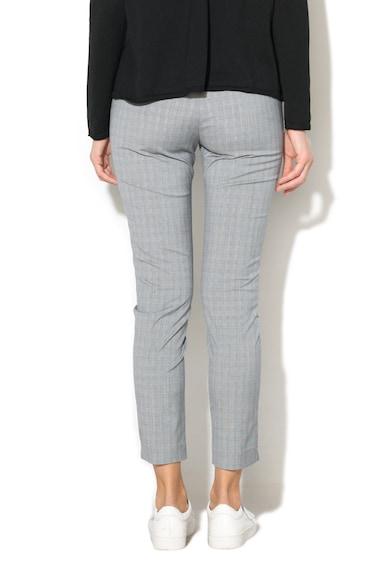 Stefanel Pantaloni cu model in carouri si buzunare oblice Femei
