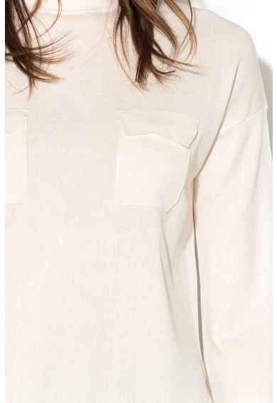 Stefanel Pulover tricotat fin cu aplicatii pe piept Femei