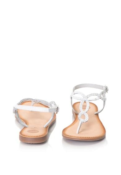 Gioseppo Sandale din piele cu bareta separatoare si aspect impletit Femei