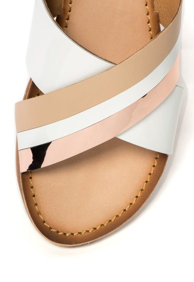 Gioseppo Papuci din piele cu accente auriu rose Femei