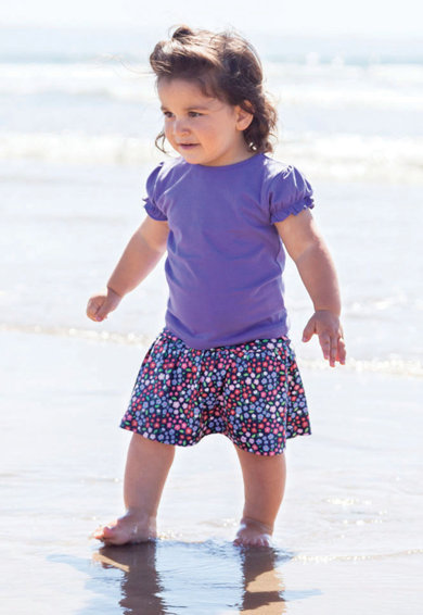 JoJo Maman Bebe Fusta-pantalon cu model floral Fete