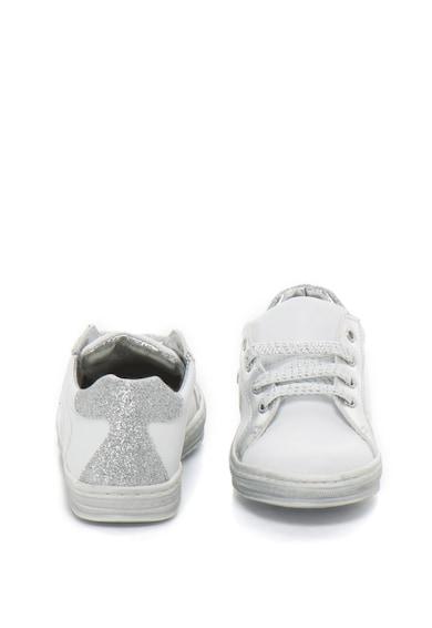 Zee Lane Pantofi sport de piele cu insertii metalizate si stralucitoare Fete