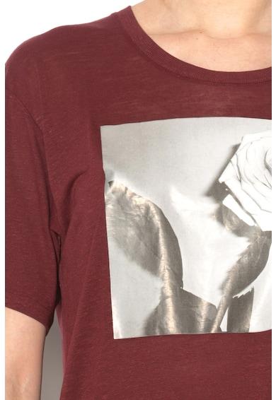 Diesel Tricou lung din amestec de lyocel si in cu imprimeu RACHEL Femei
