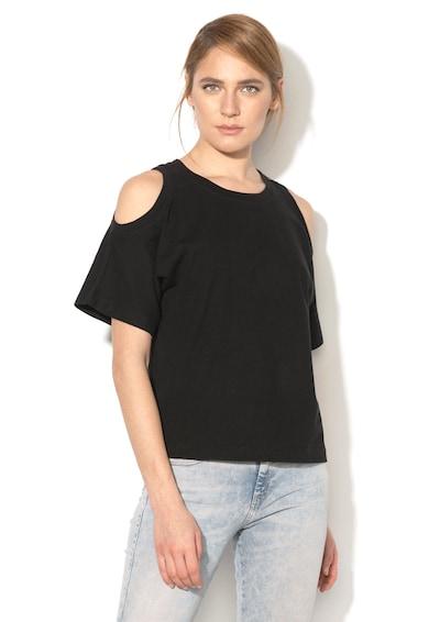 Diesel Marie kivágott vállú texturált póló női