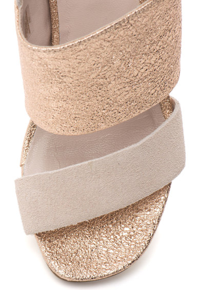 Tosca Blu Sandale slingback cu garnituri de piele intoarsa Tip Tap Femei
