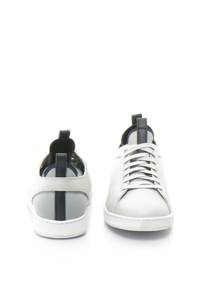 Diesel Black Gold Pantofi casual slip-on de piele si neopren Barbati