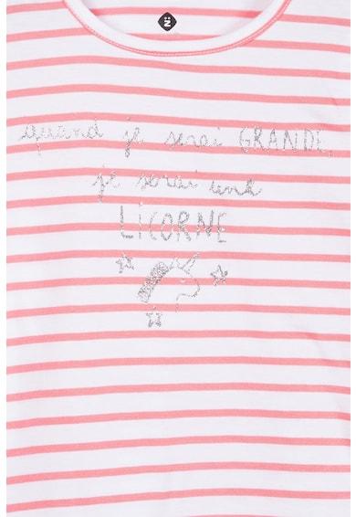 Z Kids Tricou cu dungi si imprimeu text Fete