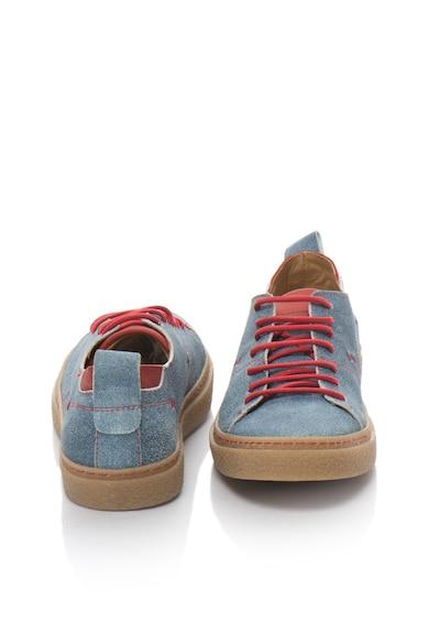 Zee Lane Pantofi casual de piele intoarsa cu detalii contrastante Barbati