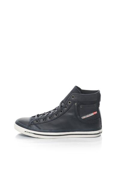 Diesel Exposure magas szárú plimsolls cipő bőr anyagbetétekkel férfi