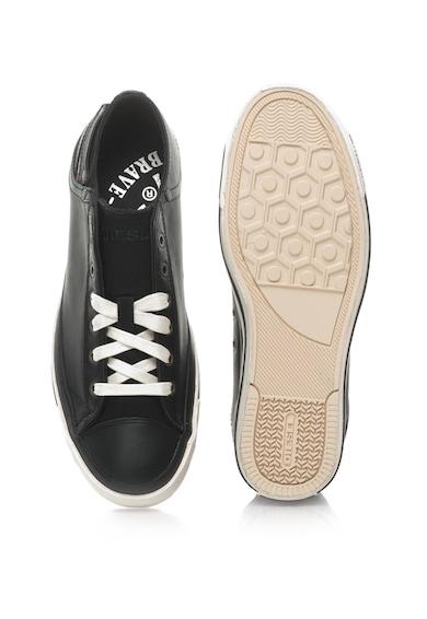 Diesel Pantofi sport cu garnituri din piele de vaca Exposure Barbati
