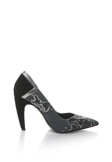 JUST CAVALLI Кожени обувки с висок ток и шагрен Жени