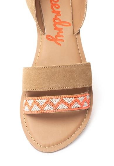 SUPERDRY Sandale de piele intoarsa cu barete infasurabile Talaia Femei