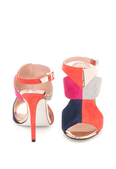 Pollini Велурени сандали с висок ток Жени