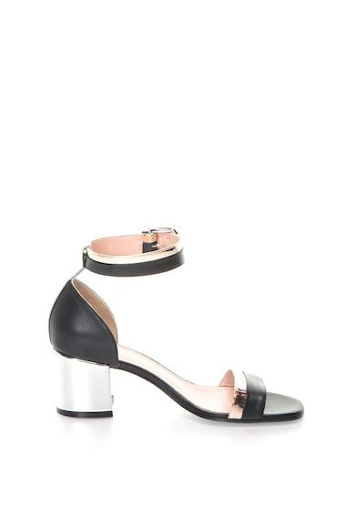 Pollini Sandale de piele cu toc masiv Femei