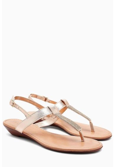 NEXT Sandale de piele cu strasuri Femei