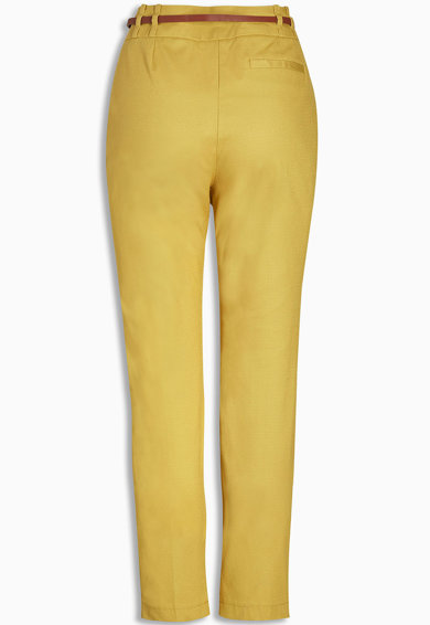 NEXT Pantaloni crop cu o curea in talie Femei