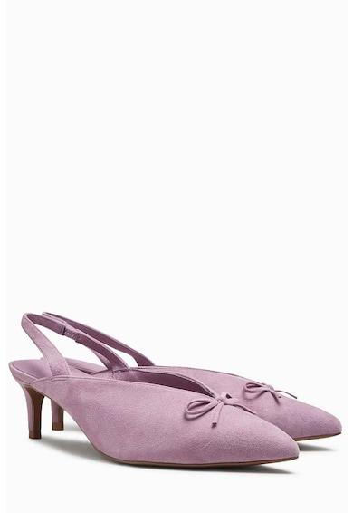 NEXT Pantofi slingback din piele intoarsa cu varf ascutit Femei