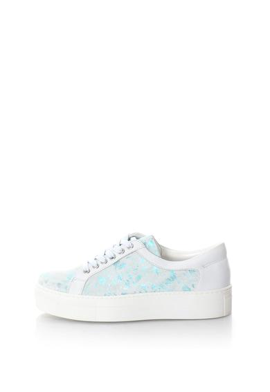 Zee Lane Pantofi sport din piele si piele nabuc cu platforma Femei