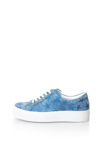 Zee Lane Nyersbőr flatform cipő csillámos betétekkel női